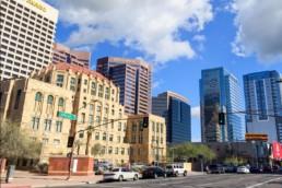 Downtown Phoenix AZ landscape